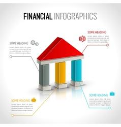 Bank financial infographics vector image
