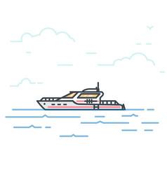 big modern yacht vector image