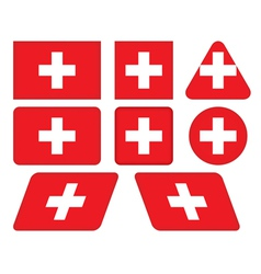 buttons with flag of Switzerland vector image vector image