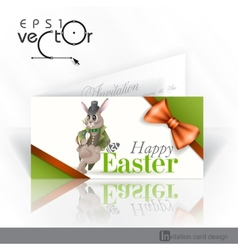 Easter Background With Bunny vector image vector image