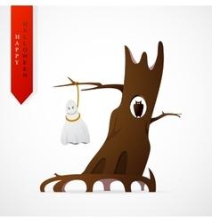 Haloween greeting card cartoon design vector image