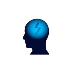 head icon brainstorm thinking new idea concept vector image vector image