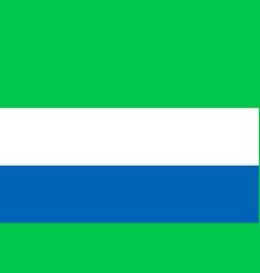 national flat flag of sierra leone vector image vector image