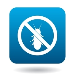 No termite sign icon simple style vector image