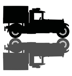 Vintage covered truck vector