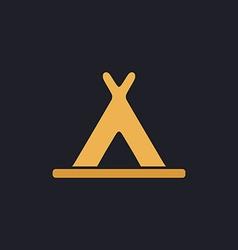 Wigwam computer symbol vector image