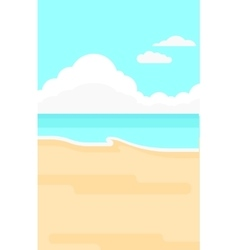Background of sand beach with blue sea vector image