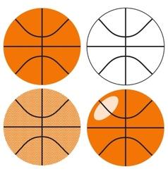 Basketball ball set vector image