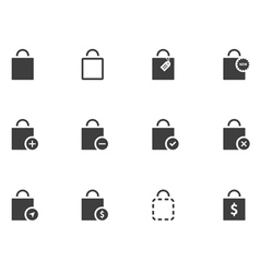 12 Bag Icons vector image