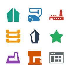 9 contemporary icons vector