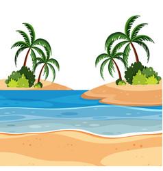 a summer beach landscape vector image