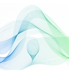Abstract wave set on white background vector