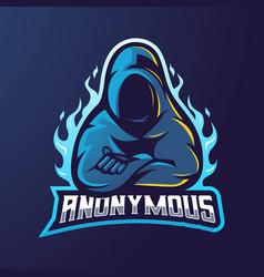 Anonymous mascot logo design vector