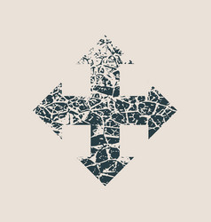 Arrow cracked cross vector