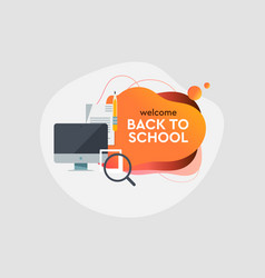 back to school online education dynamic style vector image