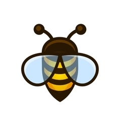 Bee Logo Sign Icon vector