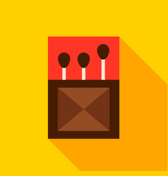 box of matches object icon vector image