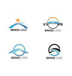 Bridge logo and symbol template building vector