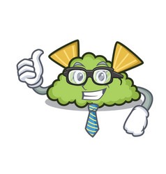 Businessman guacamole character cartoon style vector