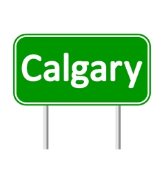 Calgary road sign vector