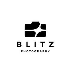 camera blitz flare light photography photo logo vector image
