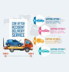 Car assistance service flat vector