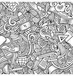 Cartoon hand drawn Doodles on the subject vector