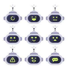 Chatbot avatar computer chat bots android robot vector