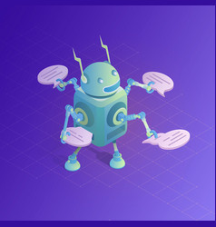 chatbot concept online assistant vector image