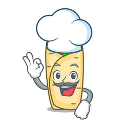 chef burrito character cartoon style vector image