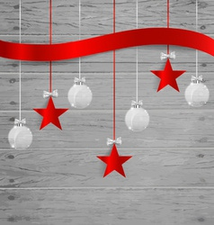 Christmas background with Christmas decoration vector image