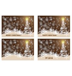 christmas card - set vector image