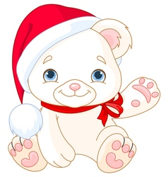 Christmas Polar Bear vector image