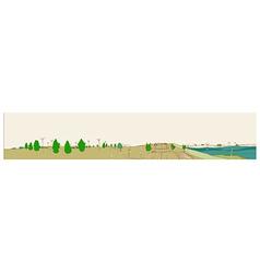Cityscape Park View vector image