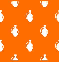 clay jug pattern seamless vector image