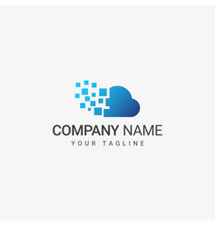 cloud data logo template vector image