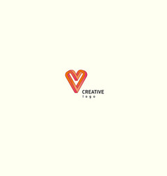contour modern logo of the heart vector image