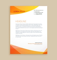 creative business letterhead design vector image