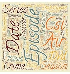 CSI Season 2 DVD Review text background wordcloud vector image