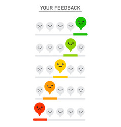 customer service satisfaction survey form quality vector image