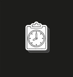 document with clock icon questionnaire - office vector image