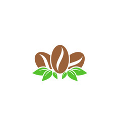 eco coffee logo icon design vector image