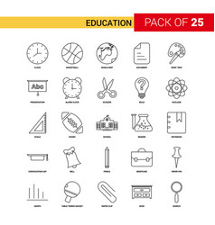 Education black line icon - 25 business outline vector