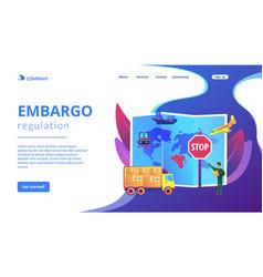 embargo regulation concept landing page vector image