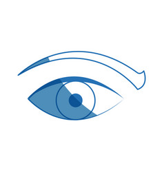 Eye vision surveillance system security concept vector