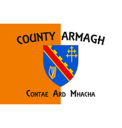 Flag county armagh in ulster ireland vector