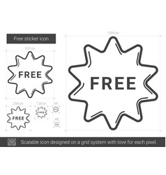 Free sticker line icon vector