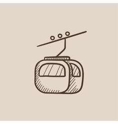 Funicular sketch icon vector image
