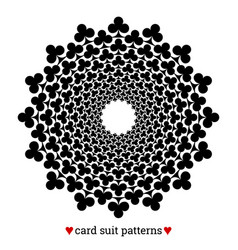 gambling card suit poker pattern made with clubs vector image