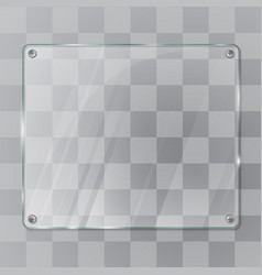 Glass empty plate vector